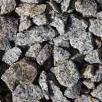 Granit, grau-rötlich