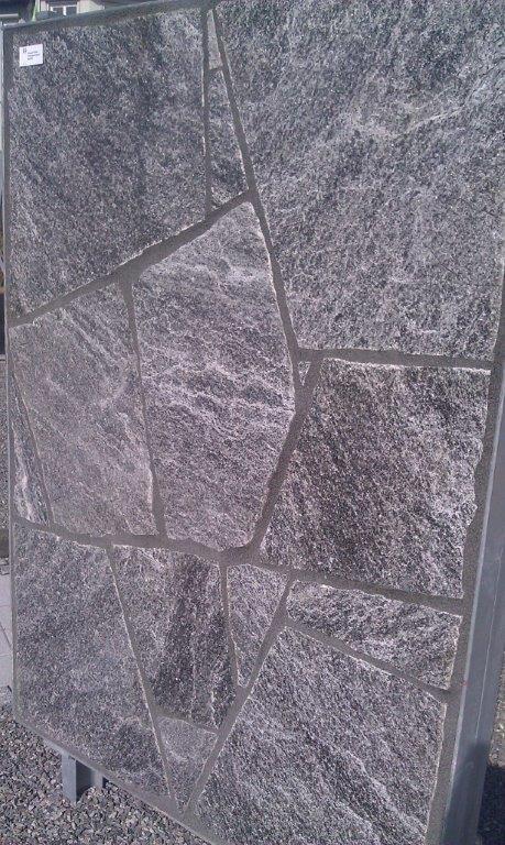 Ingergigio Gneis Polygonal dunkel antikgrau