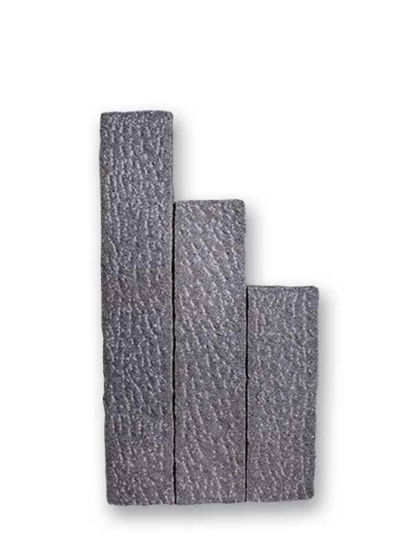 Palisaden granit anthrazit gespitzt