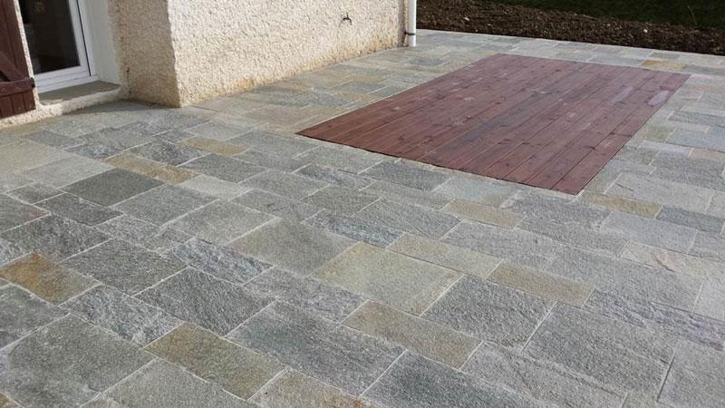 Terrassenplatte Gneis
