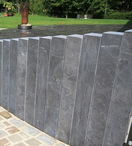 La palissade en pierre à chaux pas cher chez Stolz, prix, Alsace